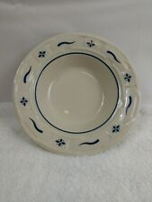 Longaberger Woven Traditions 6 1/2 Inch Soup Bowl With Blue Accents
