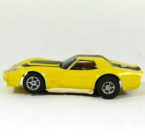 Vtg 1970s-80s Aurora A/FX Magna Traction HO Slot Car Yellow Corvette GT