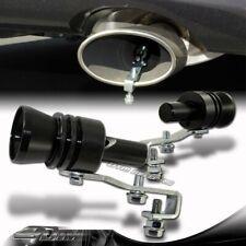 2X Turbo Sound Black Fake Blowoff BOV Simulator Exhaust Muffler Pipe Whistle XL