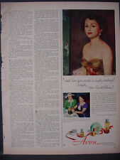 1951 Avon Cosmetics Madge Sproull Mrs Ronald Colman Vintage Print Ad 12329