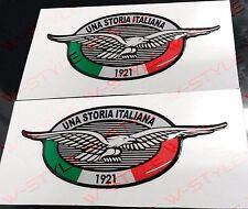 Coppia Adesivi Resinati Moto Guzzi UNA STORIA ITALIANA