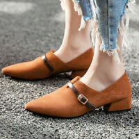 Women's Pumps Flats Oxford Plus Size Pointed Toe Slip On Casual Loafer Shoes