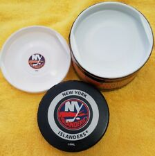 VINTAGE NHL NY ISLANDERS ISLES OFFICIAL GAME PUCK GARY B BETTMAN INGLASCO + CAN