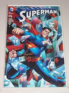 Superman #50! (2011) Rare DF Variant! Signed by VCA Amanda Conner! NM! COA!