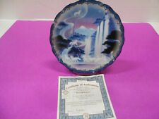 """New Listing*Bradford Exchange """"Waterfall Fantasy"""" Collectors Plate Free Ship"""