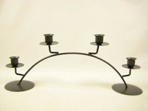 Black Cast Iron Candle Stick Candle Holder Arch / Round Table Decoration