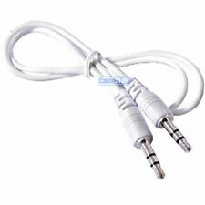 1 metre WHITE 3.5mm AUX Stereo Jack Cable 1m BUDGET AUDIO LEAD