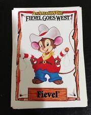 An American Tail Fievel Goes West 150 Cards Complete Set (Impel/1991) Plus Bonus