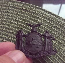 Very Rare New York Excelsior Hat Badge
