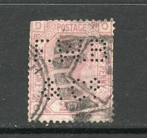 Queen Victoria 2 1/2d SG 139 Plate 7 Used F.W.B/& Co Perfin See Scans Cat £120