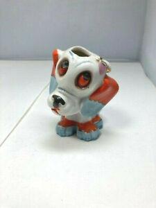 Vtg 50s PUPPY DOG FLY ON HEAD Toothbrush Holder Ceramic Japan Bathroom Retro