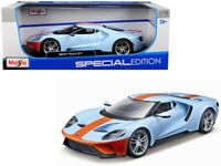 Maisto 1:18 2017 Ford GT Light Blue 31384 Diecast Model Car Special Edition New
