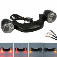 Schwarz LED Blinker Indicator Hinten Lamp Für Harley Road Street Glide 2010+