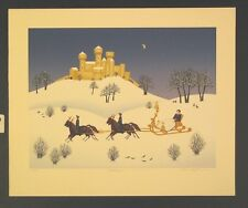 """Original Limited Edition Serigraph by Wilma Laughlin """"Diuterreise"""""""