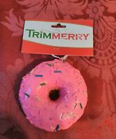 Trimmerry Pink Doughnut Christmas Ornament Looks Real
