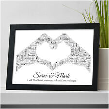 Personalised Gifts for Couples Boyfriend Girlfriend Husband Wife Him Christmas