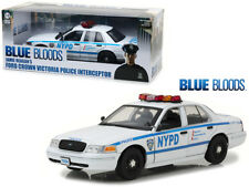 1/18 Greenlight Blue Bloods TV Ford Crown Victoria Police Interceptor NYPD 13513