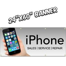 iPHONE REPAIR BANNER we fix ipad android tablet apple mac pc computer 24x60