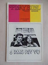 March 1973 - Lunt-Fontanne Theatre Playbill - 6 Rms Riv Vu - Jerry Orbach