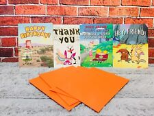 NICK BOX 4 Greeting Cards w/Envelopes Angry Beavers, Hey Arnold Wild Thornberrys