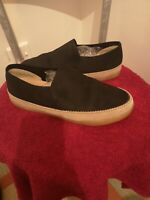 Clarks Plus Cushion Loafers shoes trainers Black nubuck Leather 8UK EU42