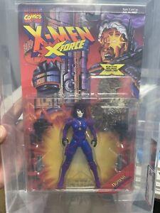 ToyBiz X Force Domino Figure New Graded AFA 80 MOC X Men