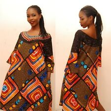 Absolutely Stunning Traditional African Ankara Dress - size UK 14-16      (#A29)