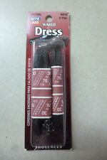 """2 Pairs 30"""" Flat Dress Waxed Shoelaces ( Brown) R616 Shoe Lace"""