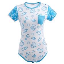 Little for Big Nursery Blue Adult Bodysuit / Diaper Cover
