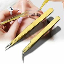 Gold Eyelash Extension Tweezer Eyelash Tools