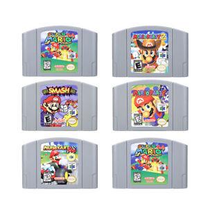 Mario Kart 64 Super Mario 64 Party 123 Video Game Cartridge Nintendo N64 Console