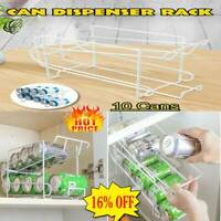 Double-Layer Can Soda Storage Rack Shelf Fridge Organizer Home Drink Holder