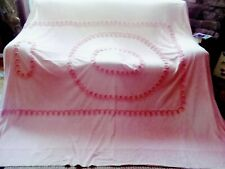 Vintage Pink with Gold Tread Chenille Bedspread Cutter Repair?