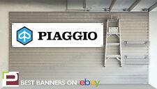 Piaggio Workshop Garage Banner, Vespa, Scooter
