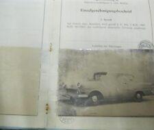* Opel Olympia Rekord P1 1700 Österreichischer Typenschein SAMMLER *
