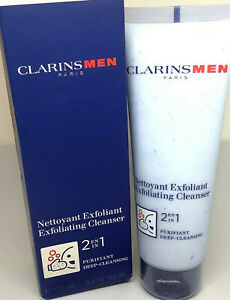 CLARINS MEN PARIS EXFOLIATING CLEANSER 2in1 SEALED ITEM 4.4oz/125ml NEW IN BOX