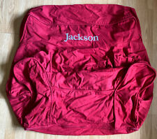 Pottery Barn Kids Oversized Red Twill Anywhere Chair Slip Cover Jackson Monogram