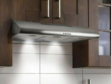 Kitchen Range Hood Vent 36 Stainless Steel Over Stove Ductless Under Cabinet Led