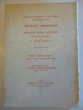 LEFEVRE (André). Ouvrages d'auteurs du XIXème siècle et ....1965