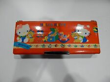 VTG MAGNETIC PENCIL CASE STATIONARY HELLO KITTY USED IN GOOD CONDITION