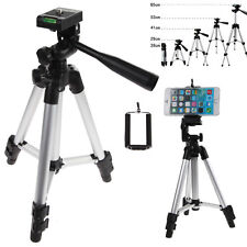 Professional Camera Tripod Stand + Phone Holder for Smartphone iPhone Samsung