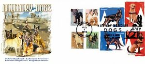 Military Dogs Panda Cachet #10 8-Stamp Combo First Day Cover R/C