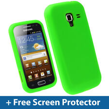 Green Silicone Skin Case for Samsung Galaxy Ace 2 I8160 Android Cover Holder