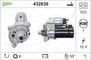 Valeo Starter Motor 432636 fits Citroen BX 1.6, 1.6 E, 1.9, 1.9 CAT, 1.9 GTi,...