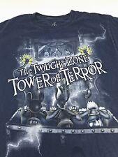 Disney World Twilight Zone Tower of Terror Mickey Blue T-Shirt SIZE MEDIUM adult