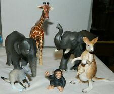 5 GENUINE SCHLEICH WILD ANIMAL FIGURINES & 1 BY NATURE & SCIENCE ALL IN VGC