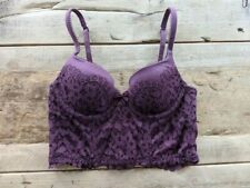 c2cbf335b03 VICTORIA S SECRET CHOCOLATE CHERRY LACE BODY BY VICTORIA LONG LINE DEMI BRA