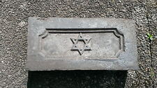 Old Brick mattone mattoni ALT con stella di David cerotto pietra Judaism giudaismo