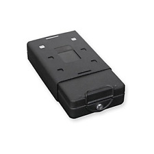 Car Safe with Key Lock Mounting Bracket and Cable in Black - Fit Small Gun Box