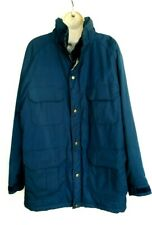 Woolrich Mens Size Large Jacket Parka Blue Insulated  Style 33334 Vintage